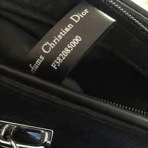 Dior Bags - CD beauty black zippered pouch NWOT